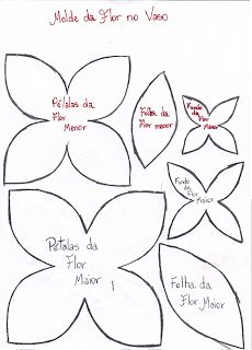 Blog da Polly: MOLDES DE FLORES