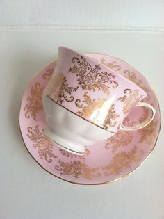 Vintage Queen Anne Tea Cup and Saucer/Bone by MariasFarmhouse, $65.00