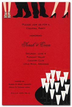 Mingling in Red - Corporate Invitations by Invitation Consultants. (Item # IN-1-1390 )