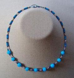 Intense Blue Chunky Necklace $10