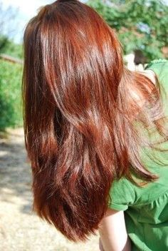 Henne - All For Hair Color Trending Long Angled Haircut, Pretty Hairstyles, Straight Hairstyles, Henna Hair Color, Curly Hair Ponytail, Thin Hair Cuts, Medium Hair Styles, Long Hair Styles, Permanent Hair Dye