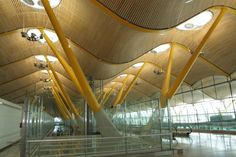Madrid Barajas Airport, Madrid.    Designed by Richard Stirk Harbour and Partners.