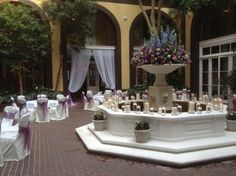 new orleans courtyard wedding reception ideas | Courtyard Wedding Reception - Picture of Hotel Mazarin, New Orleans ...
