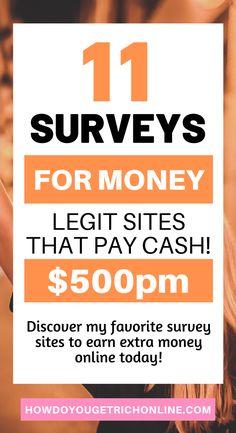 11 Trustworthy Survey Sites to Make Extra Money (Ultimate Guide) Best Online Survey Sites, Survey Websites, Online Surveys That Pay, Online Jobs, Earn Free Money, Earn Extra Money Online, Make Money From Home, Way To Make Money, Surveys For Money