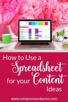 How to set up a content idea spreadsheet, map it to an editorial calendar, and use the spreadsheet to ensure there is variety in your posting schedule.