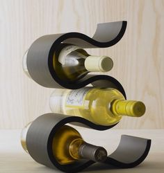 ARTifacts: Giving : Host & Hostess Gifts The Effective Pictures We Offer You About DIY Wine Rack modern A quality picture can tell you many things. You can find the most beautiful pictures that can be Cool Wine Racks, Wine Rack Bar, Unique Wine Racks, Wine Rack Storage, Wine Glass Rack, Bottle Rack, Wine Bottle Holders, Wood Wine Holder, Modern Wine Rack