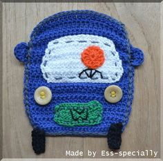 Car applique CROCHET PATTERN Auto applicatie by EssSpecially