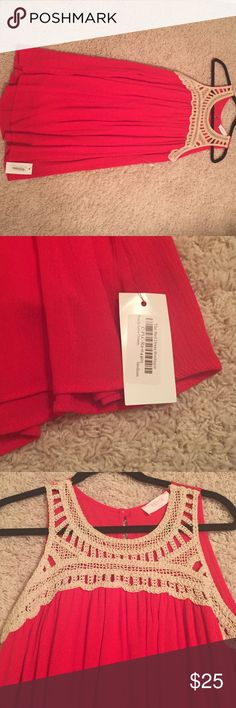 Red Dress Boutique Dress Never been worn. Tags still on. Super comfy dress. Would be super cute with boots. Color is red. Red Dress Boutique  Dresses Mini