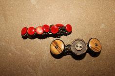 Fermacapelli fatti a mano con bottoni di di RicordatiCheVale