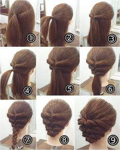 cool braids that are actually easy - Hair - Hair Designs Short Hair Styles Easy, Medium Hair Styles, Curly Hair Styles, Step By Step Hairstyles, Up Hairstyles, Updos Hairstyle, Hairstyle Ideas, Hair Ideas, Summer Hairstyles
