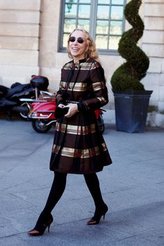 On the Street…..Franca Sozzani, Paris « The Sartorialist    Dazzling coat!