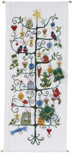 Advent Christmas Tree Counted Cross Stitch Kit