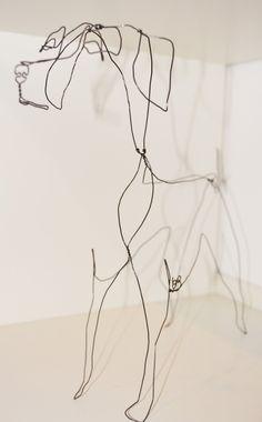 Wire Sculpture Wire Dogs by Emma Bird http://www.artat88.co.uk/