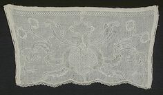 Pair of Alb Cuffs, Unknown, Probably France, circa Costumes, White linen Dresden work on white linen with linen bobbin lace edging. Bobbin Lace, Lace Shorts, Cuffs, Ornament, Pairs, Collections, Women, Bobbin Lacemaking, Decorating