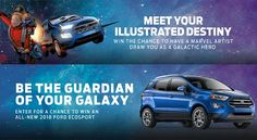 Enter for a chance to win an all-new 2018 Ford Ecosport and chance to be the guardian of your galaxy! #Win #Big #Car #Sweepstakes #Tickets
