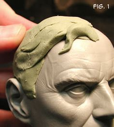 Sculpting Tutorials: Casteline Hair Sculpting Tutorial by Andy Bergholtz Sculpture Techniques, Ceramic Techniques, Art Techniques, Polymer Clay Sculptures, Sculpture Clay, Polymer Clay Art, Garden Sculpture, Sculpting Tutorials, Art Tutorials