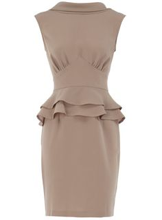 Grey peplum dress @Shantel Mitts I love this style too! Just dress it up with some accessories! :D