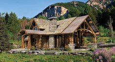 Rustic Home Design: 25 Rustic House Exterior Design Ideas, Log Cabin Floor Plans, Cabin House Plans, Log Home Plans, Log Cabin Homes, House Floor Plans, Log Cabins, Rustic Cabins, Mountain Cabins, Mountain Homes