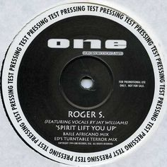 """Roger S, Jay Williams - Spirit Lift You Up 12"""" OR12015 One Records"""