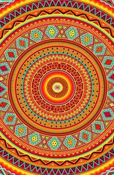 Mandala Aztec Pattern by Maximilian San: that would make a really pretty phone case!