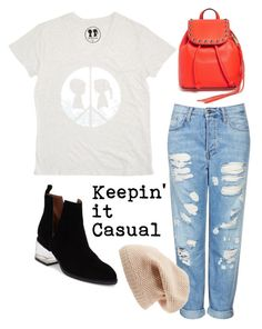 """""""Keepin' it Casual"""" by boymeetsgirlusa ❤ liked on Polyvore featuring Boy Meets Girl, Topshop, Jeffrey Campbell, Rebecca Minkoff, Sole Society, women's clothing, women, female, woman and misses"""