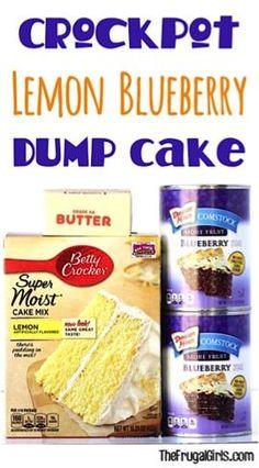 Crock Pot Lemon Blueberry Dump Cake Recipe