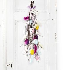 Färgglatt påskris Easter tree for your door