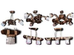 Дизайнерские и эксклюзивные из дерева светильники люстры бра для кафе