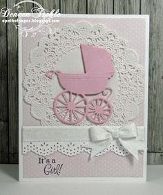 Cuttlebug Mania Baby Card