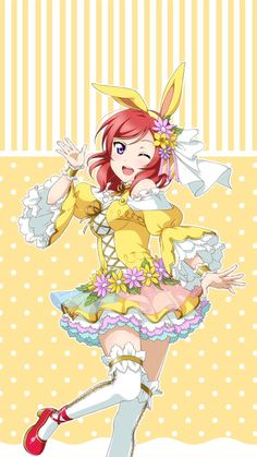 Easter Bunny Maki-chan owo (Love Live! School Idol Project)