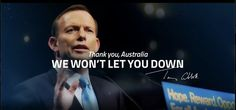 Incoming Prime Minister Tony Abbott's updated cover photo after Election Night