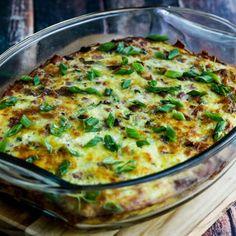 Pork Lover's Keto Breakfast Casserole found on KalynsKitchen.com