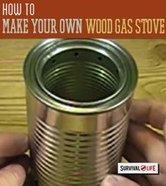 DIY and easy instructions on how make to your survival stove.   http://survivallife.com/2014/12/01/diy-wood-gas-stove/