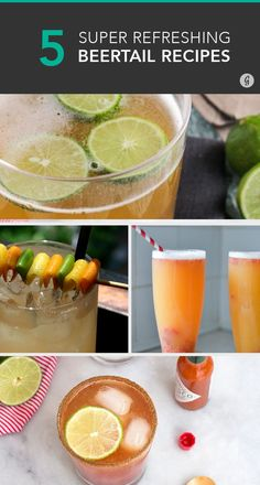 5 Beertail Recipes That Blend the Best of Both (Boozy) Worlds #beertails #beer #cocktails