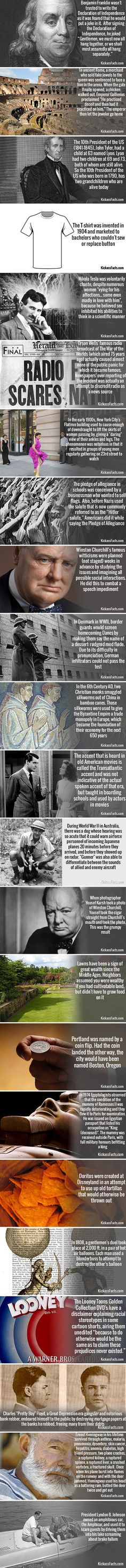 Another day, another round of fascinating historical facts you might not have known.