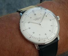 Junghans, Max Bill Automatic.  Beautiful Bauhaus design.