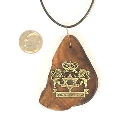 Israeli Olive pendant necklace Biekat Kohanim by JudaicaBennysArt