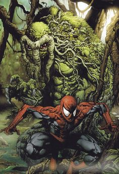 jthenrcomicsvault:    Spider-Man and Man-Thing