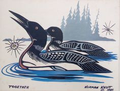 Norman Knott Together 1985 Loons Ojibwe Canada by RecollectShop