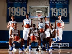 Kentucky's freshmen. Back row (from left): James Young, Dakari Johnson, Dominique Hawkins, Marcus Lee, Derek Willis. Front row (from left): ...