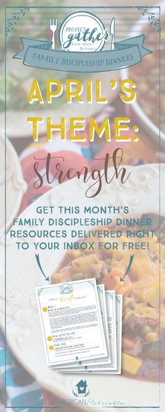 Family Discipleship Dinners; Family Mealtime Devotional; Family Bible Study