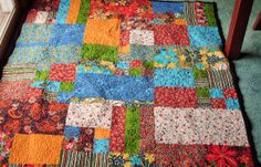 Eclectic Patchwork Throw. by Justnancy on Etsy, $60.00