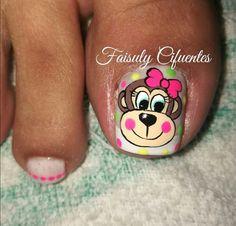 UÑAS Cute Toe Nails, La Nails, Sassy Nails, Toe Nail Art, Nail Art Designs Videos, Nail Art Videos, Toe Nail Designs, Cute Pedicure Designs, Purple And Pink Nails