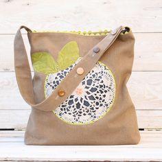 doili flower, flower bag, bag tutorials