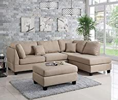 3 pc Ivy bronx vita martinique sand polyfiber fabric sectional sofa reversible chaise and ottoman. This set includes the 2 pc reversible chaise sectional sofa throw pillows and ottoman. This sectional is in polyfiber faux linen material on the cushions an 3 Piece Sectional Sofa, Sectional Ottoman, Fabric Sectional, Leather Sectional Sofas, Sofa Couch, Modern Sectional, Upholstered Ottoman, Sofa Set, Small Sectional