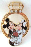 DISNEY MICKEY GROOM MINNIE BRIDE WEDDING RING PIN NEW $27.99