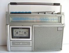 1980s Radio With Cassette Player. My first radio! I got the Alabama Greatest Hits cassette to go with it.