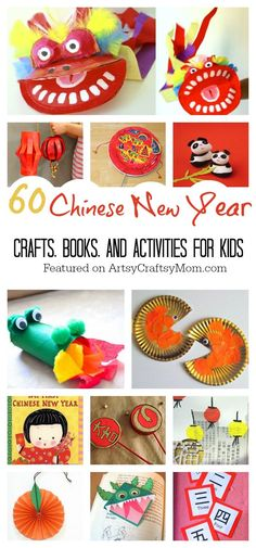 Celebrate the Lunar New Year with these quick and easy Top 60 Chinese New Year Crafts and activities for kids. Colouring pages, puzzles, worksheets, art, craft, books and other printables too.