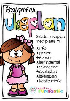 Ukeplan, arbeidsplan, fellesplan? Down Syndrom, Back To School, Education, Kids, Teacher Stuff, Organize, First Grade, Painters, Young Children