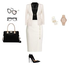 """""""Bossy📱💻"""" by isabelabelocorreia ❤ liked on Polyvore featuring Christian Louboutin, MaxMara, Alexander McQueen, Kate Spade, Burberry, BP. and Michael Kors"""